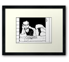 Brushing Up Framed Print