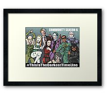 Abed Is Joker Now Framed Print