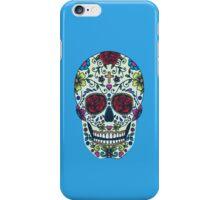 Sugar Skull Teal iPhone Case/Skin