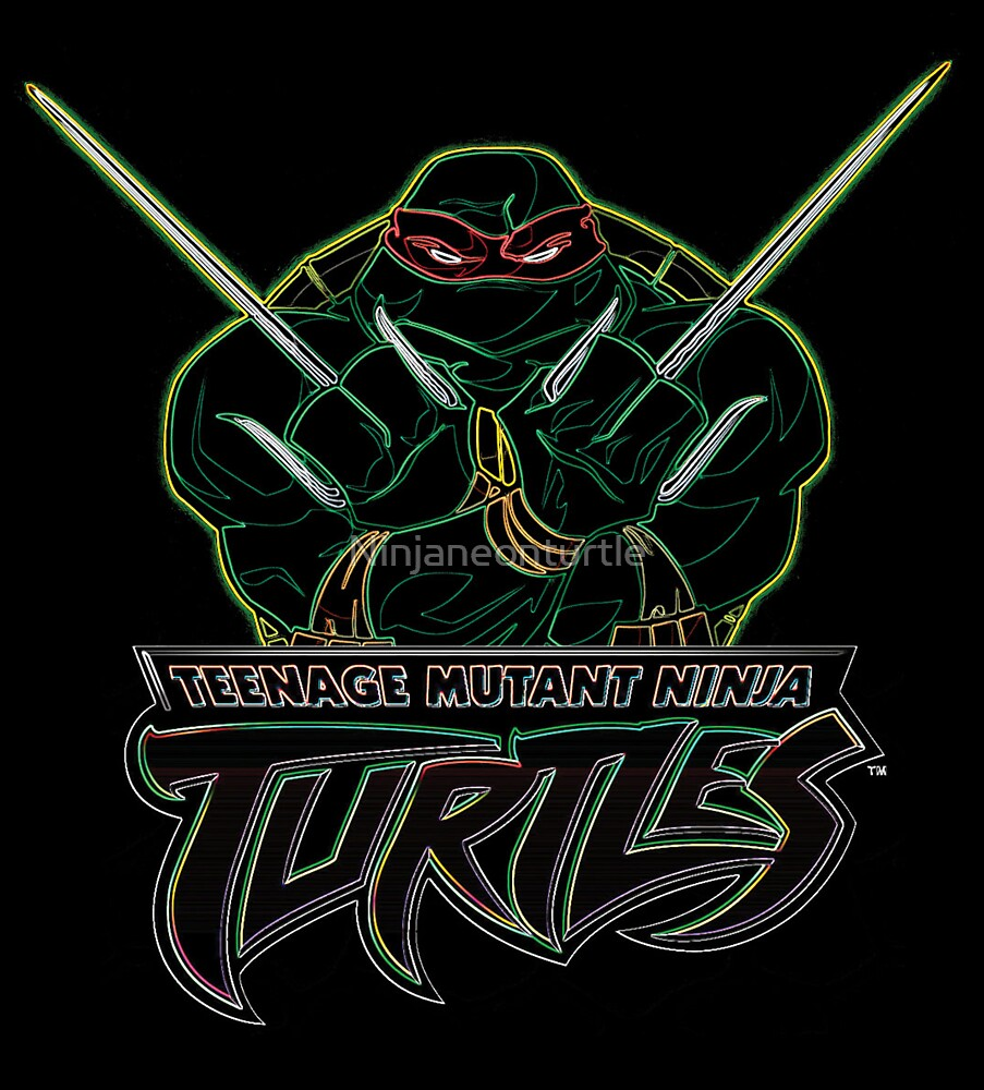 Neon Raphael - TMNT by Ninjaneonturtle