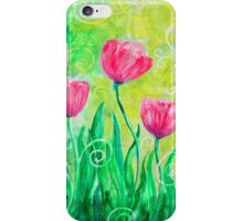 Dancing Tulips by Jan Marvin iPhone Case/Skin