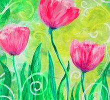 Dancing Tulips by Jan Marvin Sticker