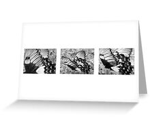 Butterfly tryptich Greeting Card