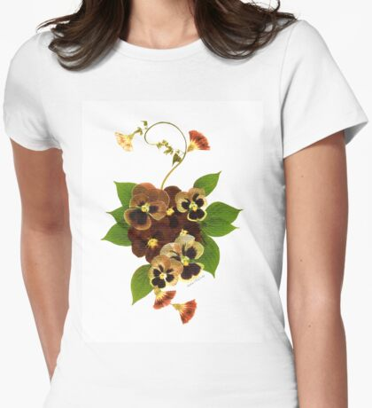 Kathie McCurdy Pansy Bouquet Womens Fitted T-Shirt