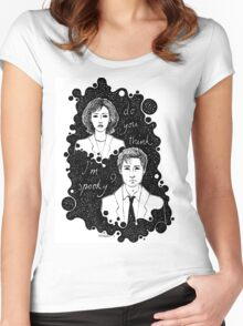 x files: do you think i'm sp00ky Women's Fitted Scoop T-Shirt