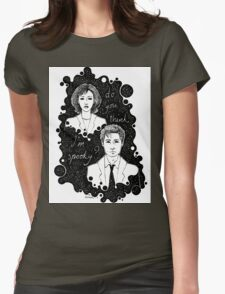 x files: do you think i'm sp00ky Womens Fitted T-Shirt