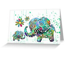 blooming elephants Greeting Card