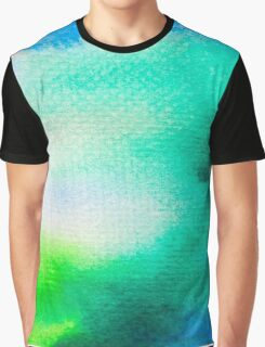 Blue Green watercolor Graphic T-Shirt