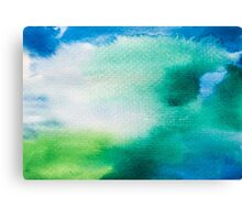 Blue Green watercolor Canvas Print