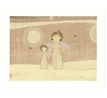 pair of angels Art Print