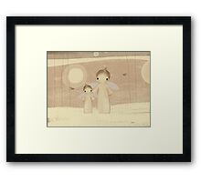 pair of angels Framed Print