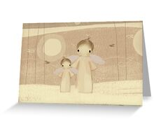 pair of angels Greeting Card