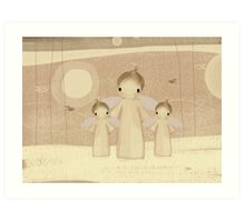 trio of angels Art Print