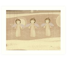 three little angels Art Print