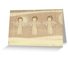 three little angels Greeting Card