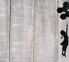 Banksy - Floating girl with balloons by MooseGeneral
