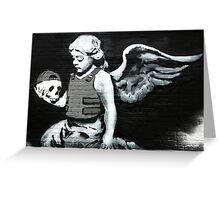Banksy - Angel holding skull Greeting Card