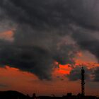 HCS Black Red Clouds I by OmarHernandez