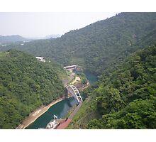 bridge surrounding mountains  Photographic Print