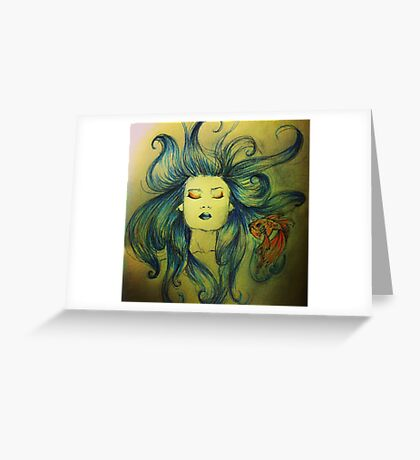 The Mermaid and the Fish Greeting Card