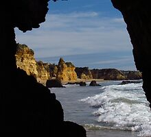 Atlantic Rocks and Wave  by wiggyofipswich