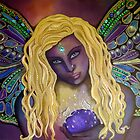 Parvaneh Butterfly Goddess - Original Painting by Maradiop