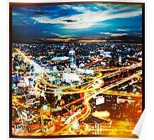 Bangkok city in twilight Poster