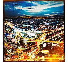 Bangkok city in twilight Photographic Print