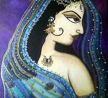 Sati Indian Goddess - Original Painting by Maradiop