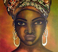 Asase Yaa - Original Painting by Mara Diop by Maradiop