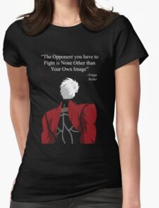 Archer Fate Stay Night Quote Womens Fitted T-Shirt