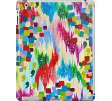 'TIS THE SEASON - Cheerful Christmas Seasonal Holidays Abstract Acrylic Painting Chevron Snow  iPad Case/Skin