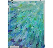 SEA SCALES - Beautiful BC Ocean Theme Peacock Feathers Mermaid Fins Waves Blue Teal Abstract iPad Case/Skin