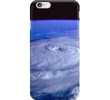 Hurricane picture of earth from space.  iPhone Case/Skin