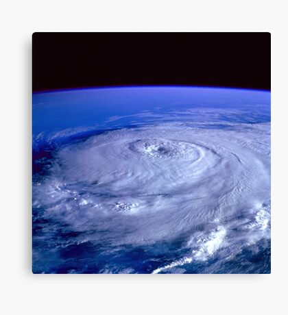 Hurricane picture of earth from space.  Canvas Print