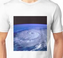 Hurricane picture of earth from space.  Unisex T-Shirt