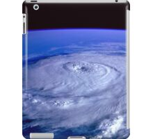 Hurricane picture of earth from space.  iPad Case/Skin