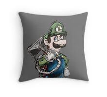 Luigi, The Ghost Catcher Throw Pillow