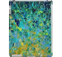 BEAUTY BENEATH THE SURFACE - Stunning Lake Ocean River Water Nature Green Blue Teal Yellow Aqua Abstract iPad Case/Skin