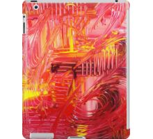 THE TANGO - BOLD Bright Acrylic Beautiful Modern Abstract Painting Dance Red Yellow iPad Case/Skin