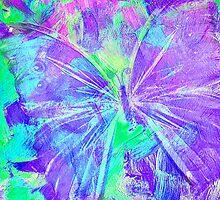 Purple Butterfly by Jan Marvin by Jan Marvin