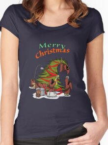 Merry Utini Xmas Women's Fitted Scoop T-Shirt