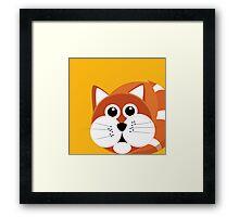 Fat Furry Cat Puss Framed Print