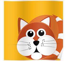 Fat Furry Cat Puss Poster