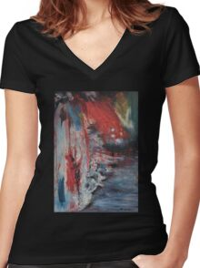 ICE AGE, BLOODY ICE AGE Women's Fitted V-Neck T-Shirt