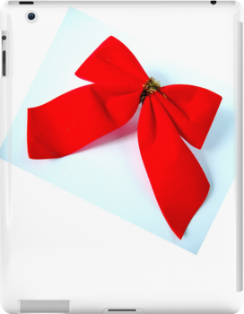 Red Christmas Bow by TinaGraphics