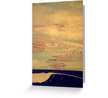 Purple Sky Trails Greeting Card