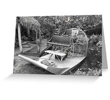 Florida Everglades Airboat Greeting Card