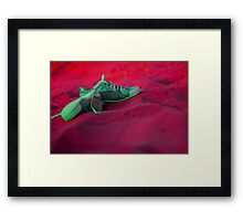 Sneakers on a dune Framed Print
