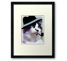 Cat In Hat  Framed Print